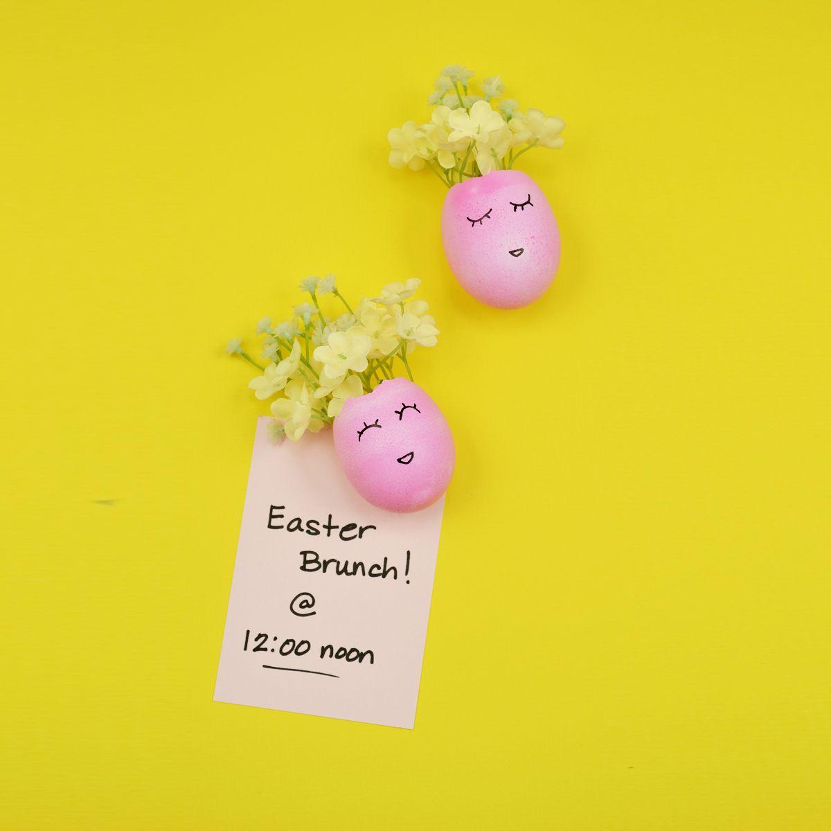 Diy how to make easter egg magnets