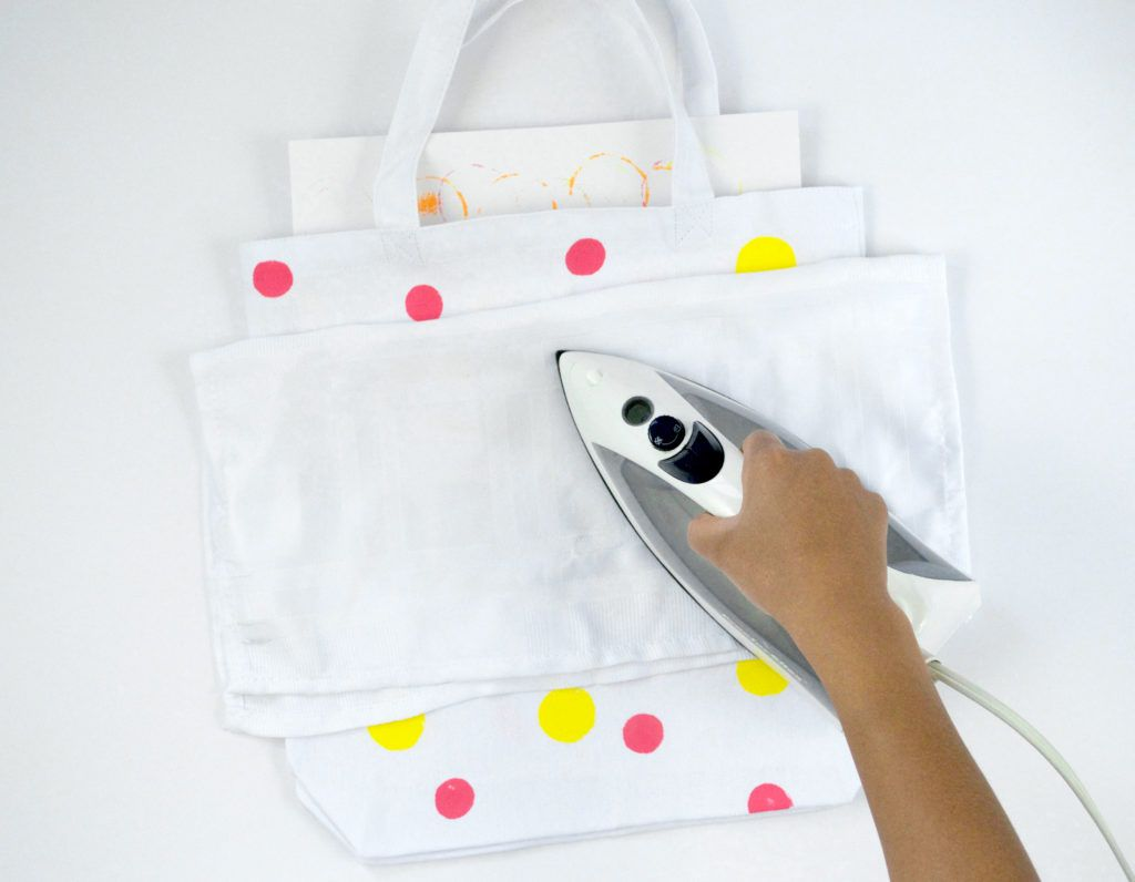 Diy letter transfer tote bags iron