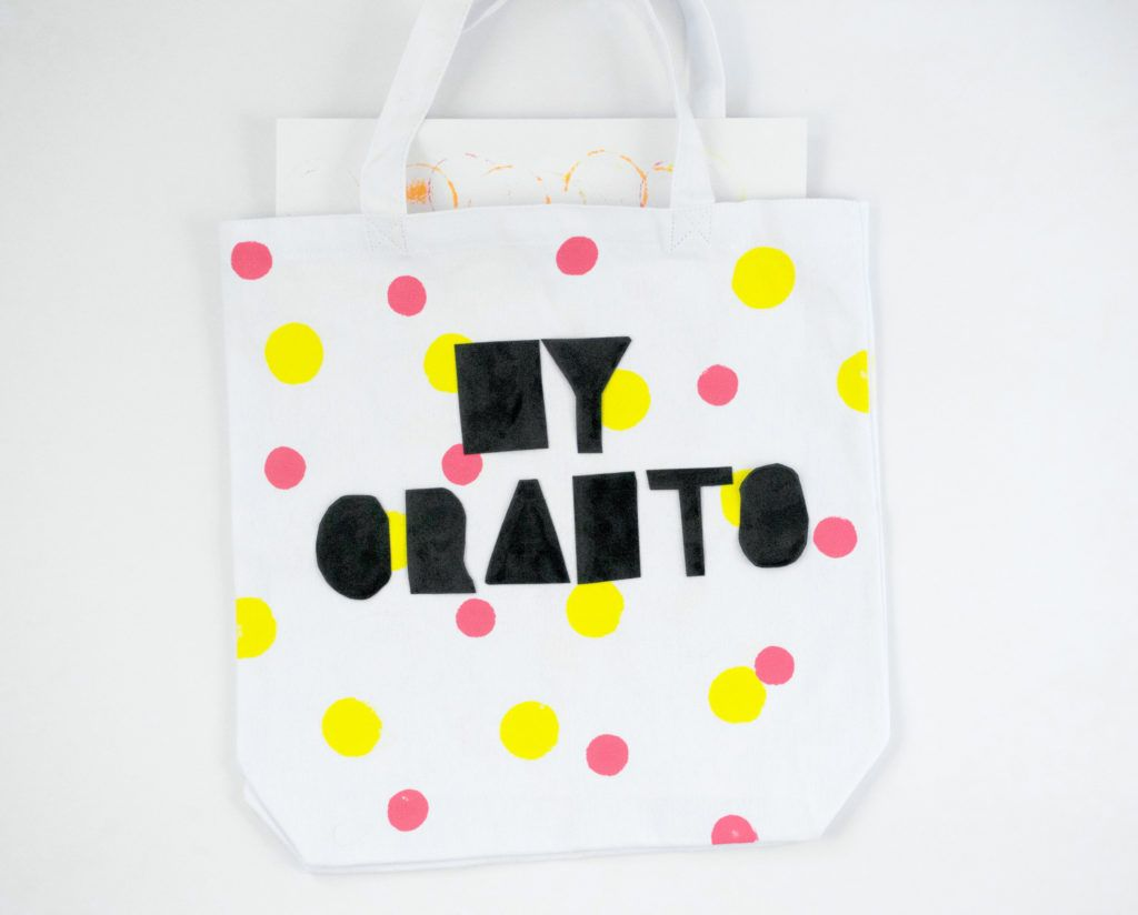 Diy letter transfer tote bags colorful