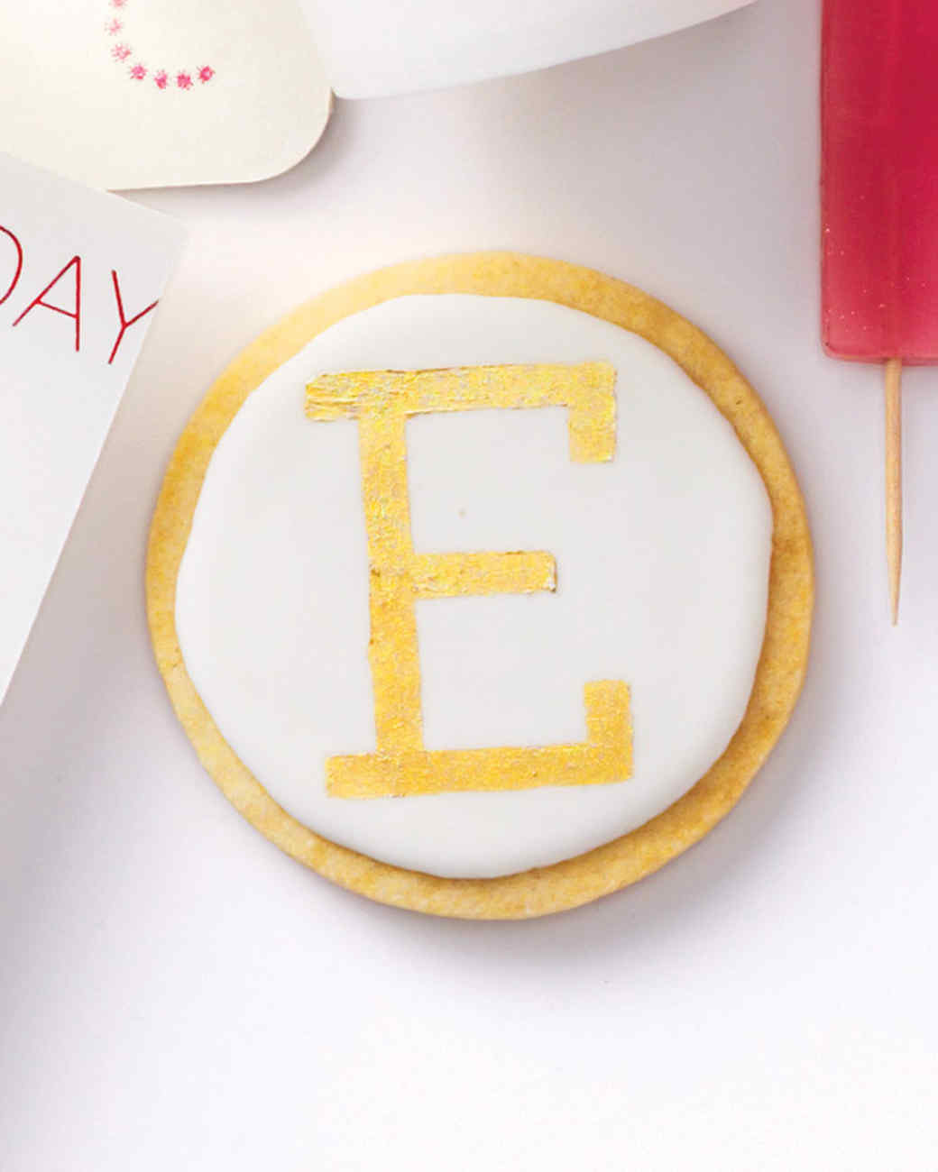 Diy monogram sugar cookies