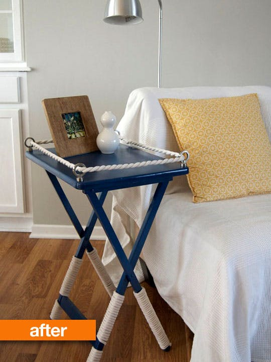 Diy nautical tv tray table