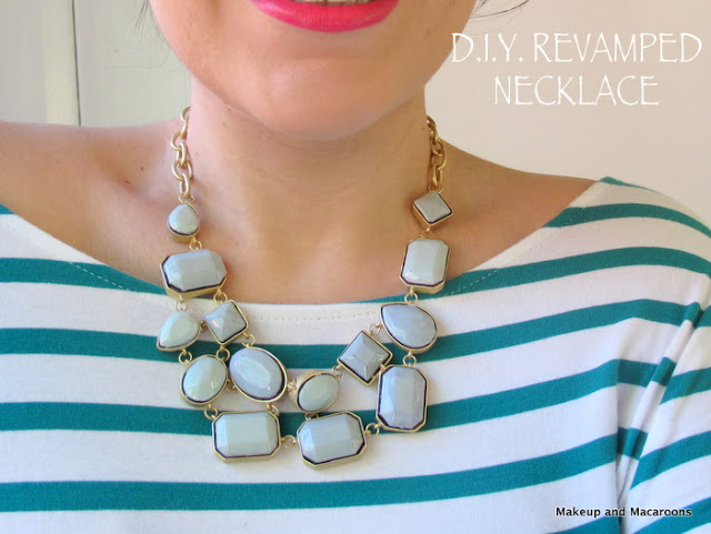 Diy revamped necklace with nailpolish