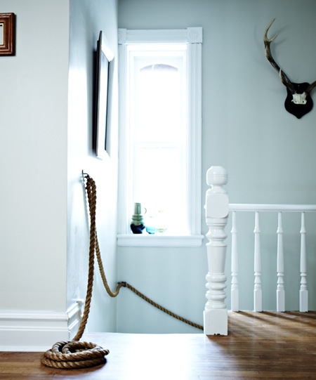 Diy rope banister