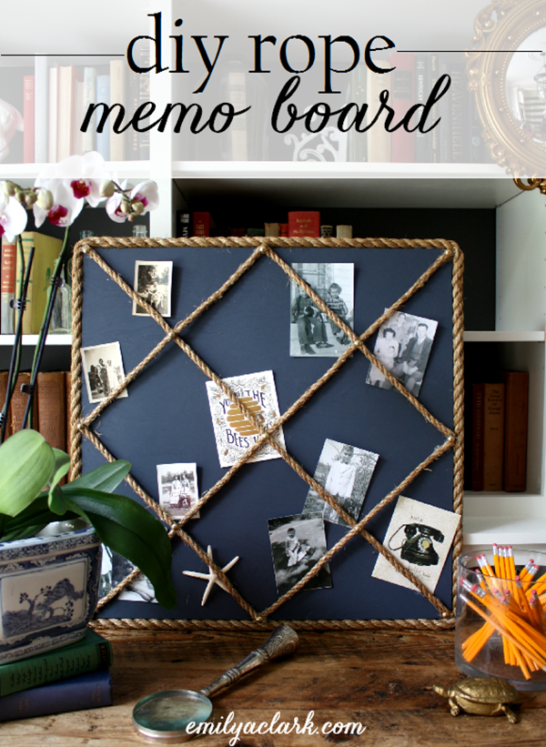 Diy rope memo board