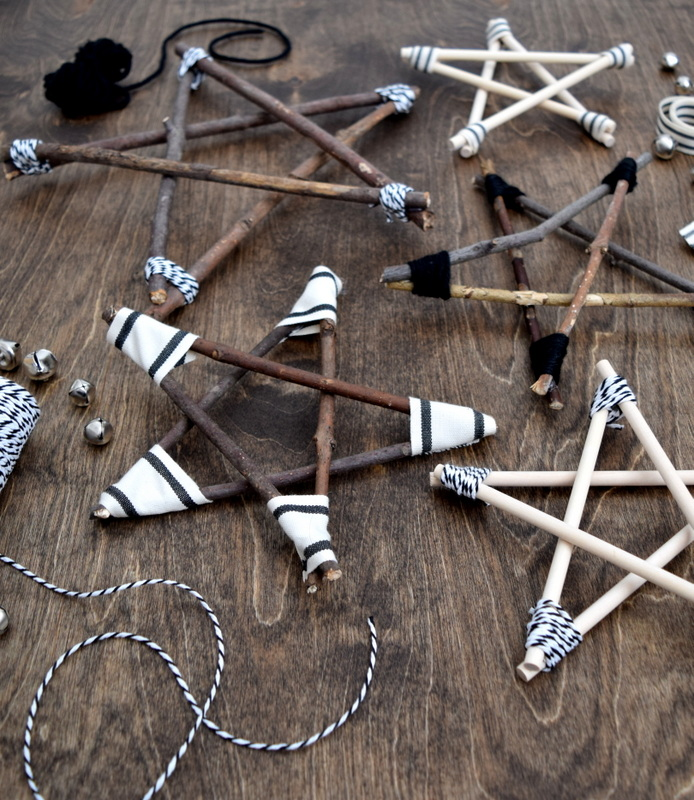 Diy rustic and modern twig stars