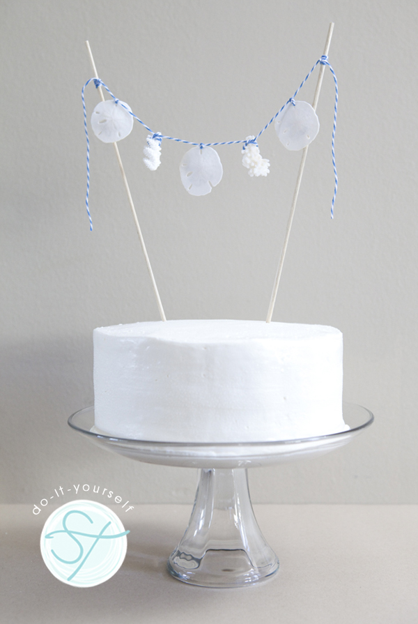 Diy seashell cake topper