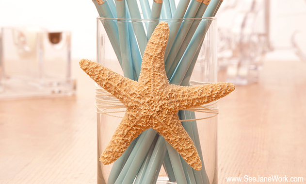 Diy starfish pencil holder