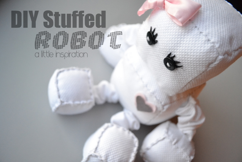 Diy stuffed robot doll