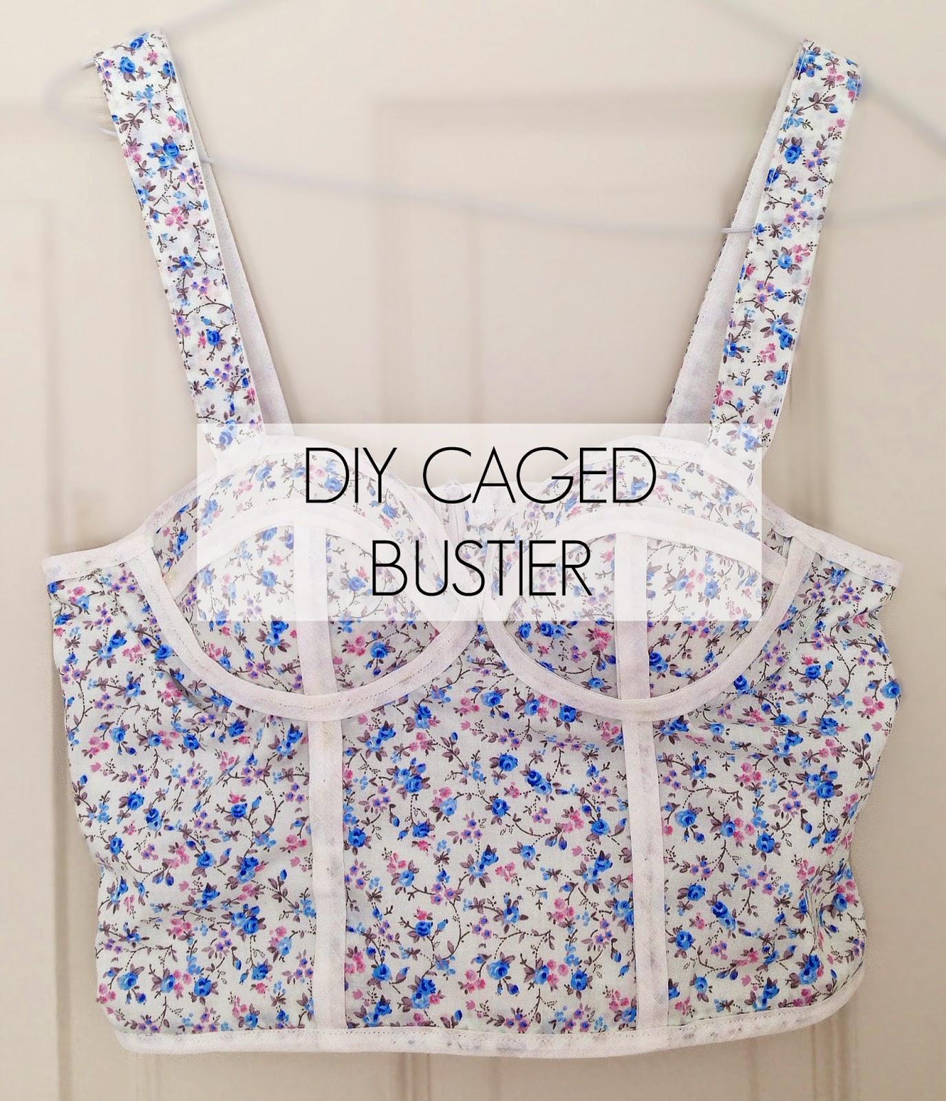 Diy caged bustier top