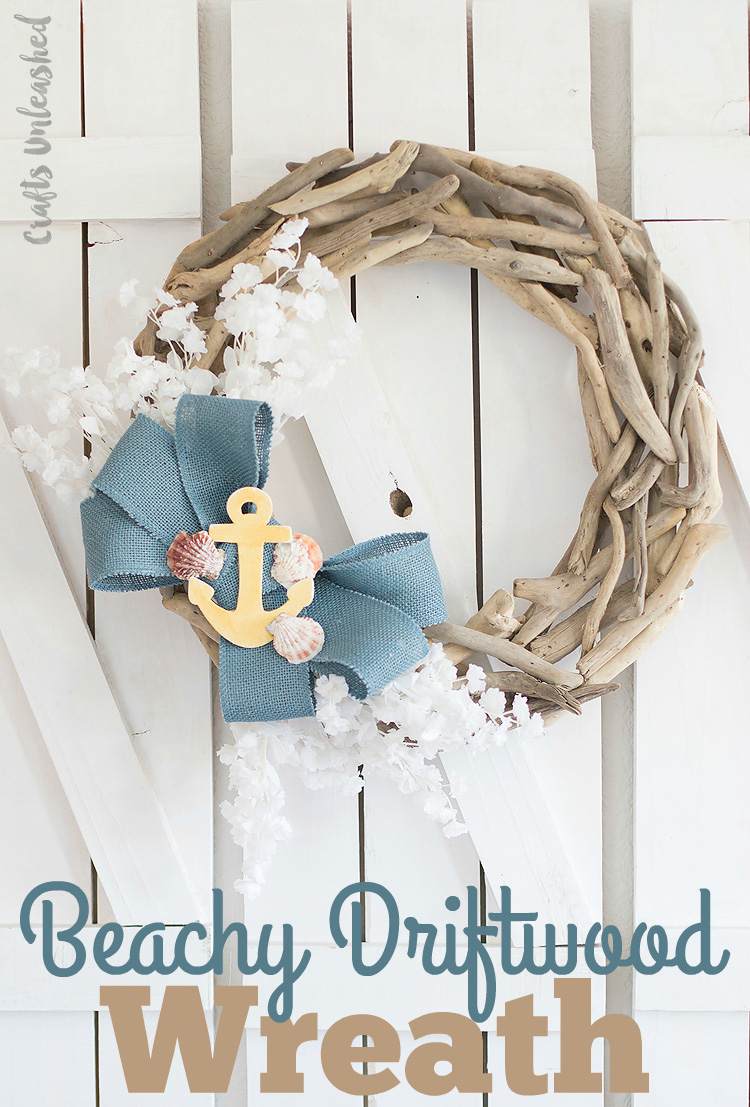 Diy driftwood beachy wreath