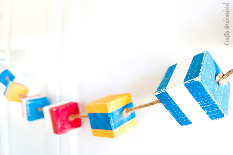 Diy flag nautical garland
