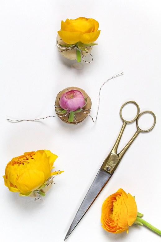 Diy flower top macarons