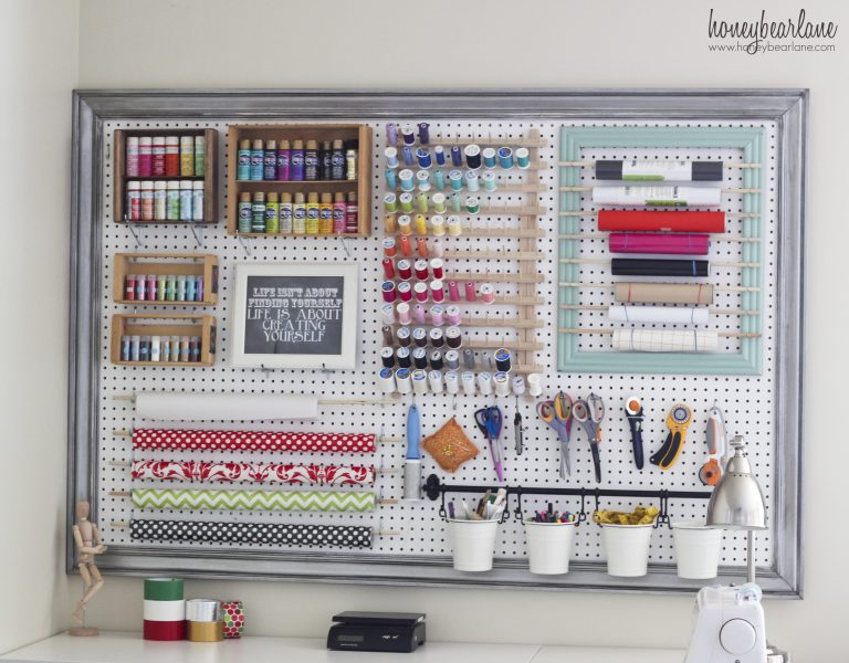 Diy framed pegboard
