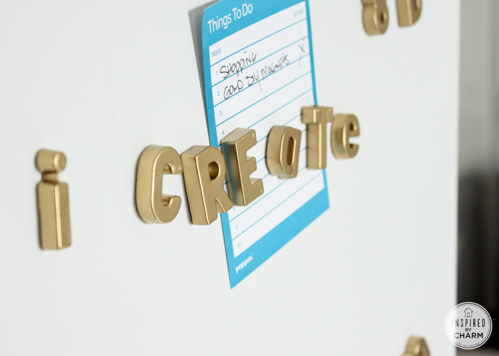 Diy gold magnetic letters