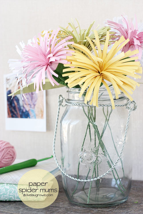 Diy paper flowers tutorial spider mums