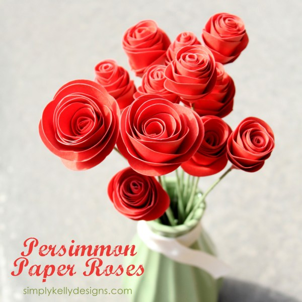 Diy persmimmon paper flowers