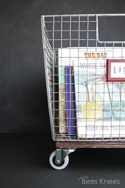 Diy rolling book basket