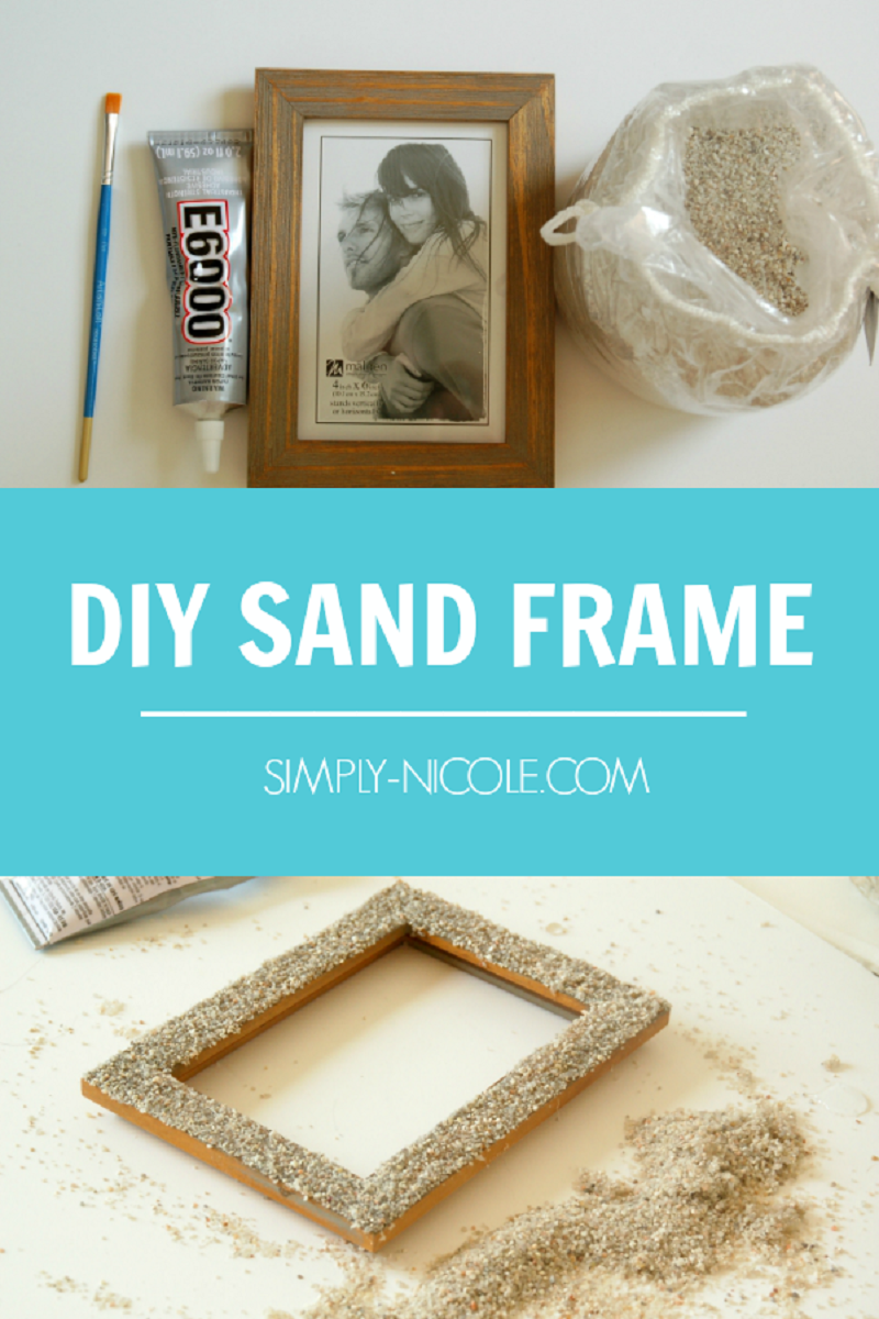 Diy sand picture frame