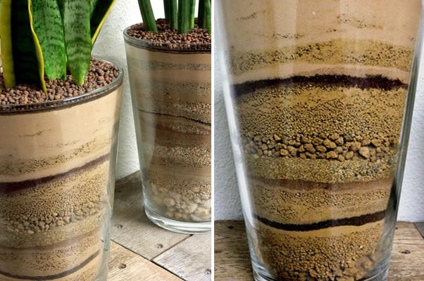 Diy sand planters art