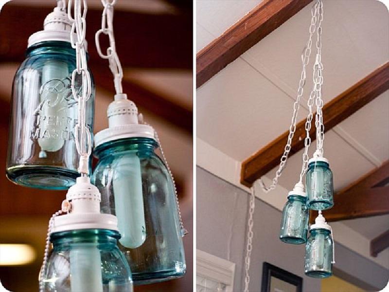 Diy vintage mason jar chandelier