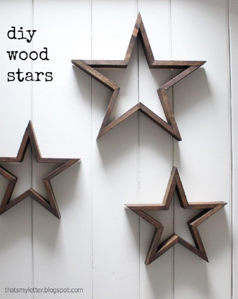 Diy wooden frame stars