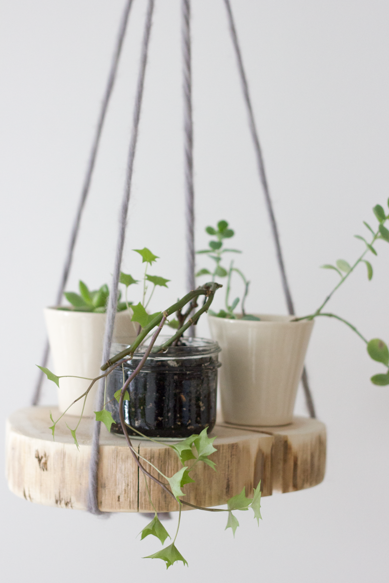 Diy+wood+shelf+plant+hanger
