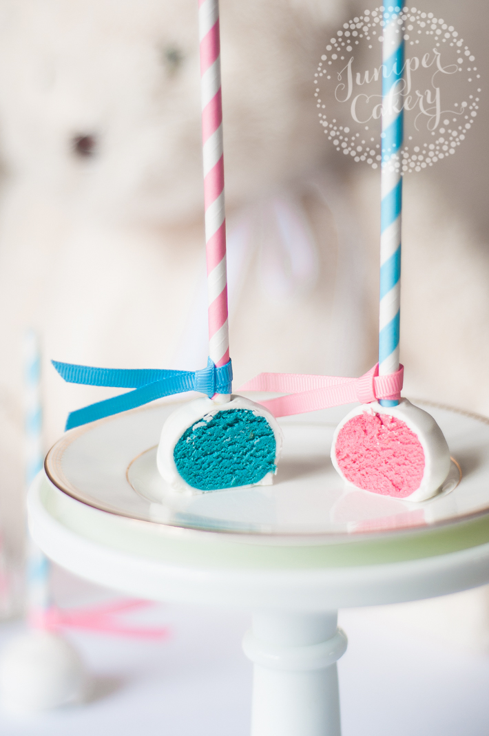 Diy gender reveal cake pops