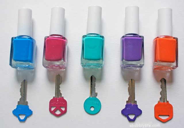 Diy nail polish keys