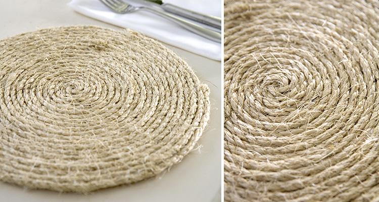 Diy rope table mat