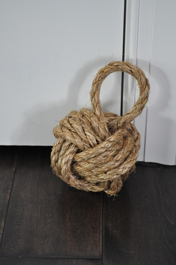 Diy sailor's knot doorstop