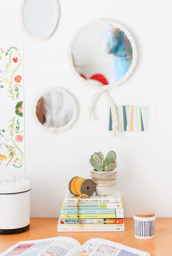 Diy braided rope mirrors