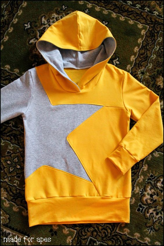 Dual colour star hoodie