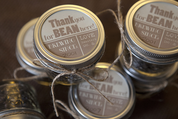 Easy coffee bean jar favors diy