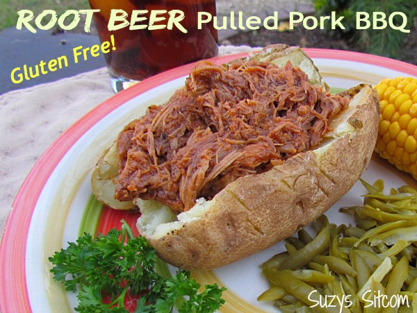 Easy gluten free root beer pulled pork bbq