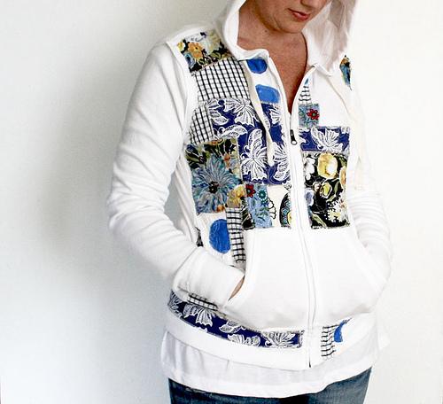 Fabric applique hoodie