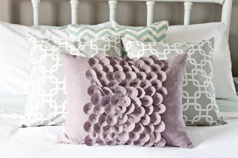 Fabric petal pillow case