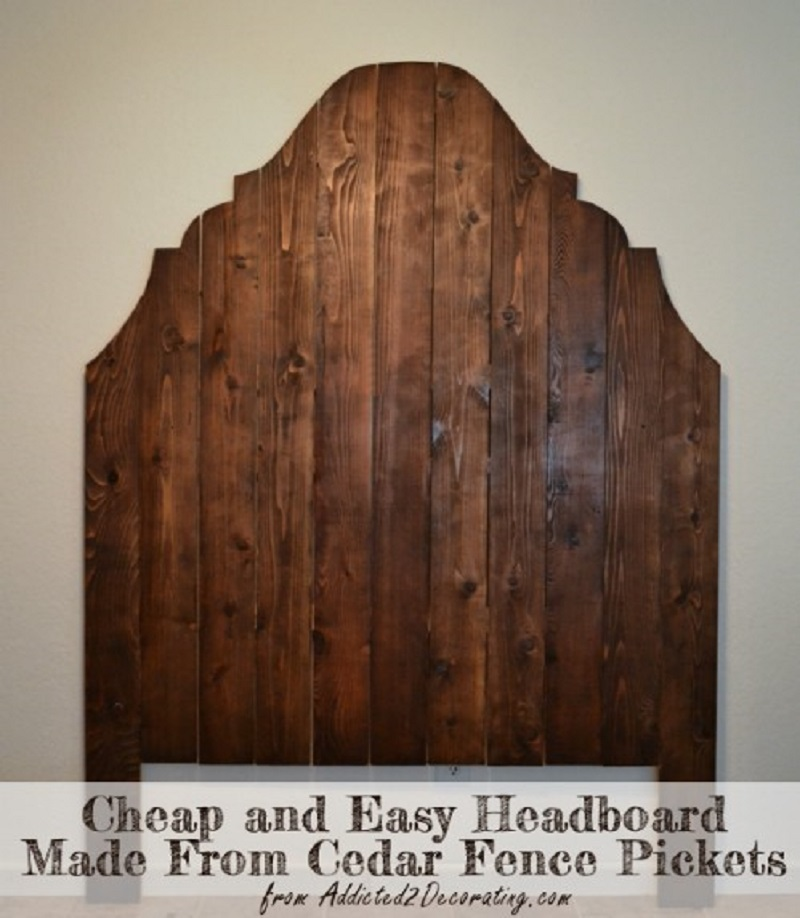 Fence picket headboard