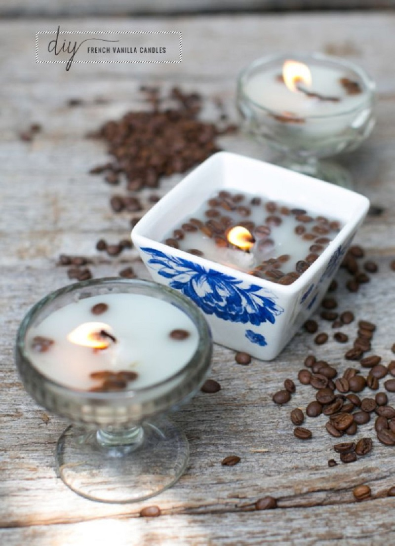 French vanilla coffee bean candles
