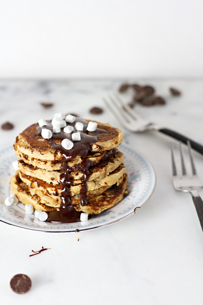 Healthy smore pancakes recipe