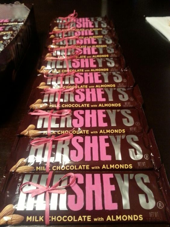 Hershey bar baby shower invites