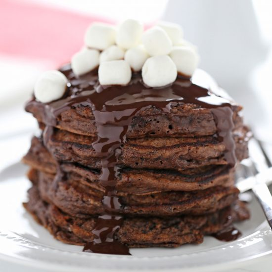 Hot chocolate pancakes recipe