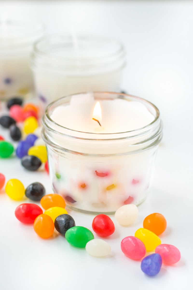 Jelly bean candle