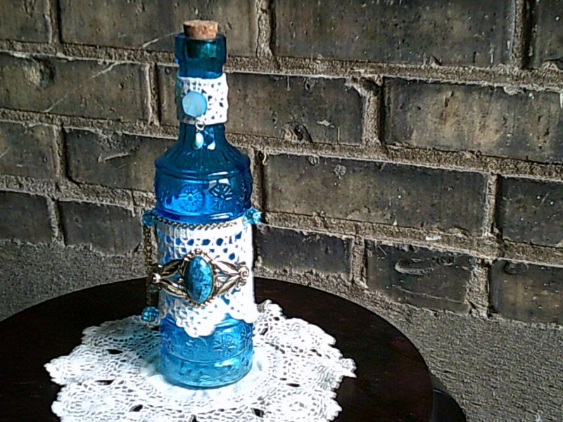Lace bottle vintage flaire