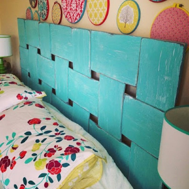 Latticed headboard