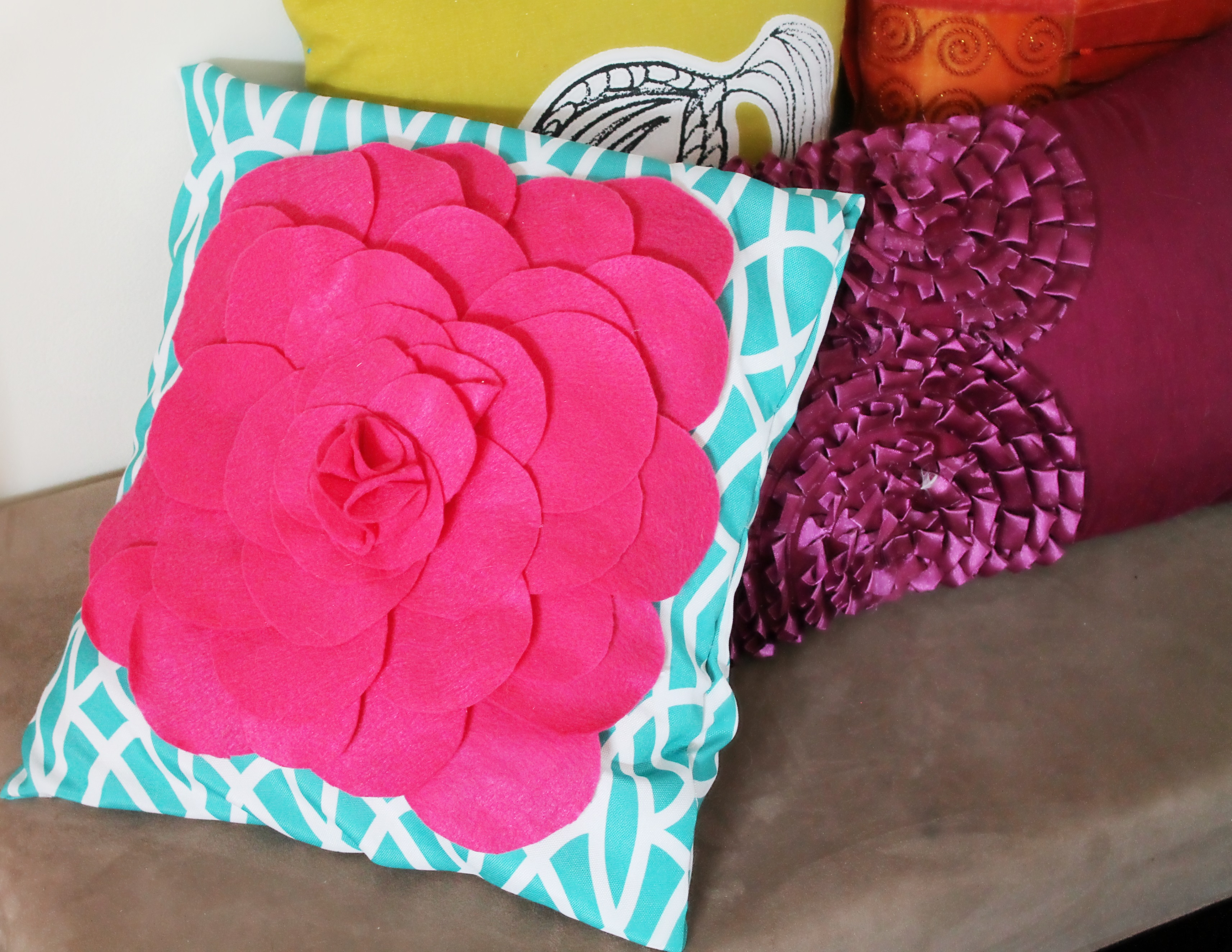 Layered rose petal no sew cover