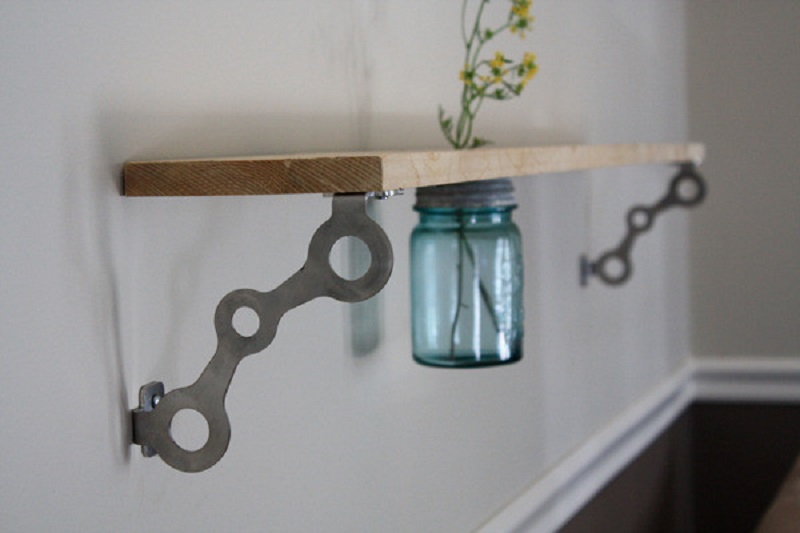 Loft mason jar shelf