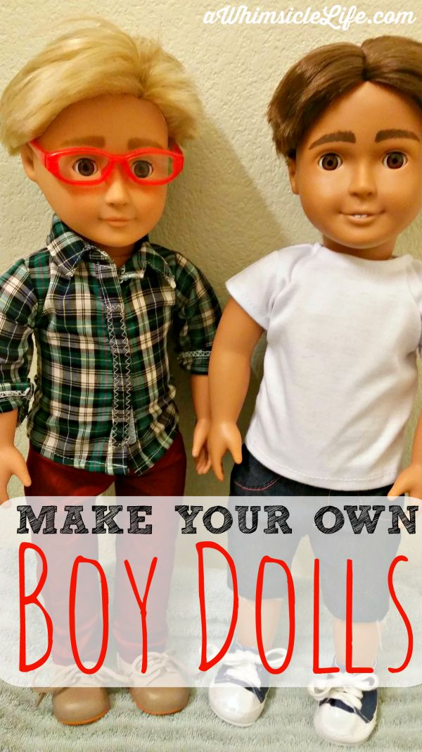 Make your own boy dolls diy