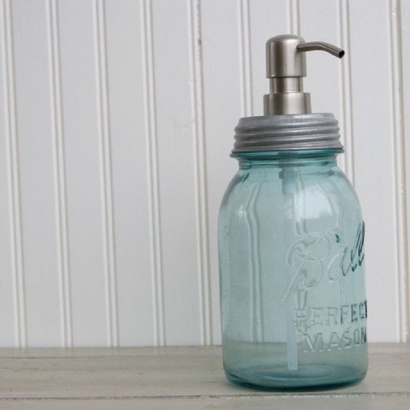 Mason jar hand soap pump