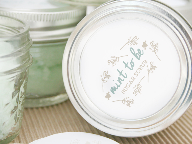 Mint sugar scrub diy favor