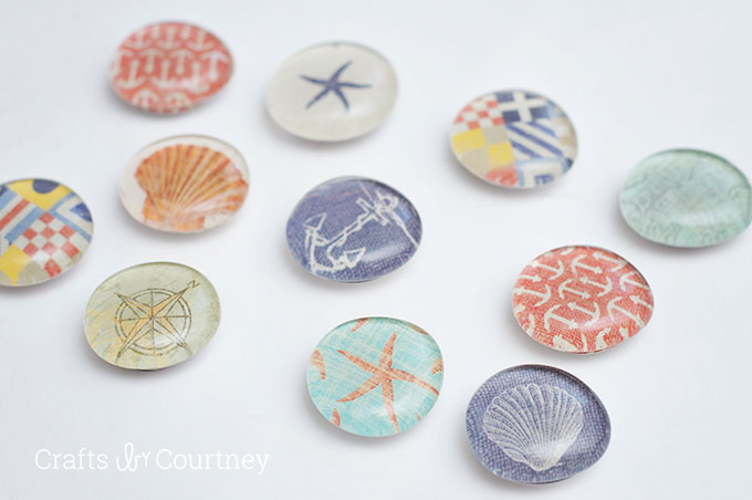 Mod podge magnets nautical